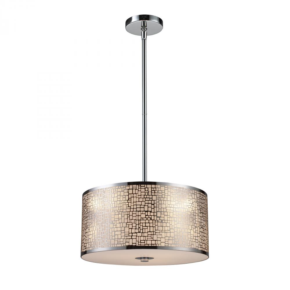 light polished stainless steel drum shade pendant cx81 the lamp