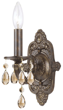Crystorama 5021-VB-GT-MWP - Crystorama Paris Market 1 Light Golden Teak Crystal Bronze Sconce