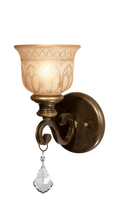 Crystorama 7501-BU-CL-MWP - Crystorama Norwalk 1 Light Clear Crystal Bronze Sconce