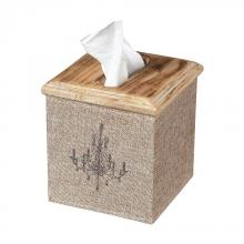 Sterling Industries 89-8005 - Linen Covered Tissue Box