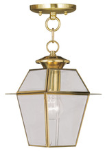 Livex Lighting 2183-02 - 1 Light PB Outdoor Chain Lantern