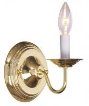 Livex Lighting 5017-02 - 1 Light Polished Brass Wall Sconce