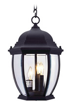 Livex Lighting 7539-04 - 3 Light Black Chain Lantern