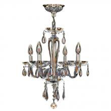"Worldwide Lighting Corp W83126C16-AM - Gatsby Collection 4 Light Chrome Finish and Amber Blown Glass Chandelier 16"" D x 18"" H Mini"