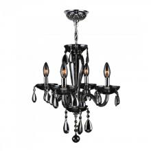 "Worldwide Lighting Corp W83126C16-SM - Gatsby Collection 4 Light Chrome Finish and Smoke Blown Glass Chandelier 16"" D x 18"" H Mini"