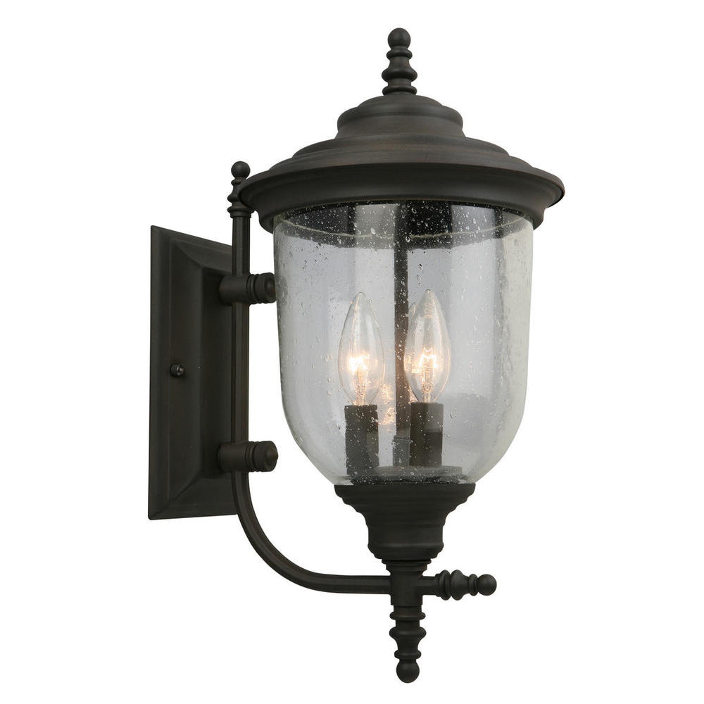outdoor wall light with outlet back door 3x60w outdoor wall light w matte bronze finish and clear seeded glass
