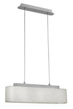 Eglo 20089A - 3x60W Multi Light Pendant w/ Chrome Finish & Cream Foil Glitter Shade