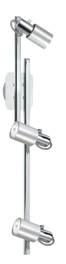 Eglo 20144AS - 3X9W Track Light w/ Chrome & Aluminum Finish