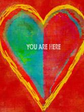 "Style Craft DW32198DS - ""you are here"" heart wall decor"