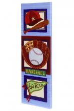 Style Craft WI32159DS - Baseball Hand Embellished Art on Canvas