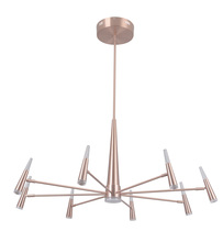 Craftmade 43228-SRG-LED - Vanguard 8 Arm LED Chandelier in Satin Rose Gold