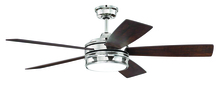 "Craftmade BRX52PLN5 - Braxton 52"" Ceiling Fan (Blades Included) in Polished Nickel"