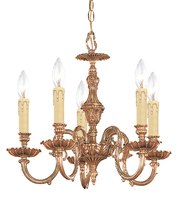 Crystorama 2605-OB - Novella 5 Light Olde Brass Mini Chandelier