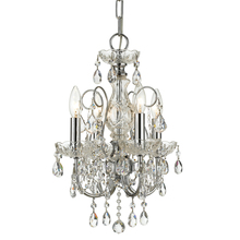 Crystorama 3224-CH-CL-SAQ - Imperial 4 Light Spectra Crystal Chrome Mini Chandelier