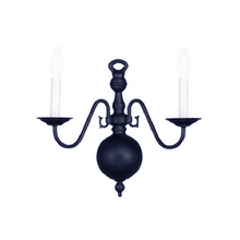 Crystorama 350_2-BLACK - Crystorama 2 Light Black Sconce
