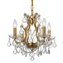 Crystorama 4454-GA-CL-SAQ - Filmore 4 Light Spectra Crystal Gold Mini-Chandelier