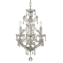 Crystorama 4473-CH-CL-SAQ - Maria Theresa 4 Light Spectra Crystal Chrome Mini Chandelier