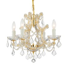 Crystorama 4474-GD-CL-SAQ - Maria Theresa 4 Light Spectra Crystal Gold Mini Chandelier