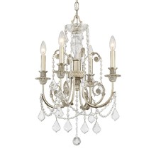 Crystorama 5114-OS-CL-MWP - Regis 4 Light Clear Crystal Silver Mini Chandelier