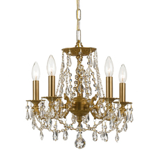 Crystorama 5545-AG-CL-MWP - Gramercy 5 Light Clear Crystal Brass Mini Chandelier