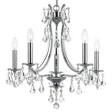 Crystorama 5935-CH-CL-MWP - Cedar 5 Light Polished Chrome Mini Chandelier