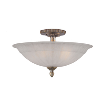 Crystorama 6205-AS - Crystorama 5 Light Antique Silver Ceiling Mount
