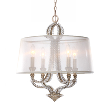 Crystorama 6764-DT - Garland 4 Light Distressed Twilight Crystal Bead Mini Chandelier