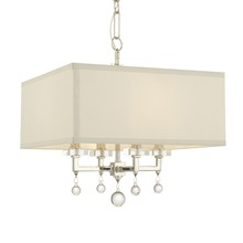Crystorama 8105-PN - Paxton 4 Light Polished Nickel Mini Chandelier