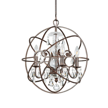 Crystorama 9025-EB-CL-MWP - Solaris 4 Light Clear Crystal Bronze Mini Chandelier
