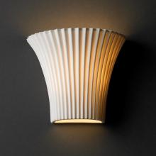 Justice Design Group POR-8810-PLET - Small Round Flared Wall Sconce