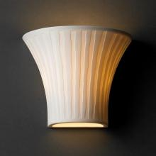 Justice Design Group POR-8810-WFAL - Small Round Flared Wall Sconce