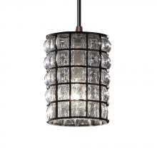 Justice Design Group WGL-8815-10-GRCB-DBRZ-LED1-700 - Mini 1-Light LED Pendant