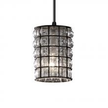 Justice Design Group WGL-8815-10-GRCB-MBLK-LED1-700 - Mini 1-Light LED Pendant