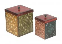 Sterling Industries 51-4101 - SET/2 GEOMETRIC MEDALLION BOXES