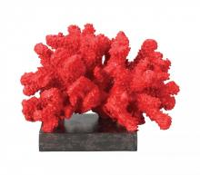 Sterling Industries 60-1540 - Fire Island Decorative Coral Statue In Red