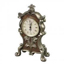 Sterling Industries 93-19322 - Desk Clock In Antique Silver And Chestnut