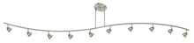 "CAL Lighting 954-10-BS/CBS - 7.25-19.25"" Inch Adjustable Metal Serpentine Ten Light Ceiling Fixture"