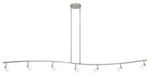 "CAL Lighting 954-77L-BS/WH - 7.25-19.25"" Inch Adjustable Metal Serpentine Seven Light Ceiling Fixture"
