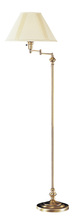 "CAL Lighting BO-314-AB - 59"" Height Metal Floor Lamp In Antique Brass"