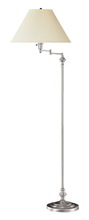 "CAL Lighting BO-314-BS - 59"" Height Metal Floor Lamp In Brushed Steel Finish"