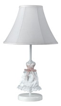 "CAL Lighting BO-5690 - 21"" Height Doll Skirt Lamp In White Finish"