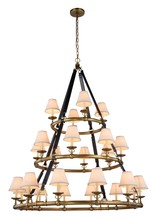 Elegant 1473G52BB - 1473 Cascade Collection Pendant D:52in H:61in Lt:24 Burnished Brass Finish