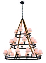 Elegant 1473G52BZ - 1473 Cascade Collection Pendant D:52in H:61in Lt:24 Bronze Finish