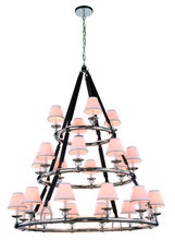 Elegant 1473G52PN - 1473 Cascade Collection Pendant D:52in H:61in Lt:24 Polished Nickel Finish