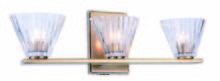 Elegant 1520W19LAB - 1520 Oslo Collection Wall Sconce, Vanity D:19in H:6in E:4in Lt:3 Light Antique Brass Finish