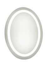 "Elegant MRE-6008 - LED Electric Mirror Oval W21""H28"" Dimmable 5000K"