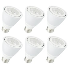 Elegant P20COB-8-D-30-35-6PK - LED PAR20, 3000K, 35°, CRI80, UL, 8W, 50W EQUIVALENT, 25000HRS, LM620, DIMMABLE, 3 YEARS WARRANTY, I