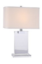 Elegant TL1009 - Regina Collection 1-Light Chrome Crystal Table Lamp