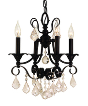 Framburg 2974 BN - 4-Light Brushed Nickel Liebestraum Mini Chandelier