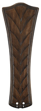 "Fanimation B6060WA - 26"" CONCAVE RIBBED CARVED BLADE: WALNUT - SET OF 5"